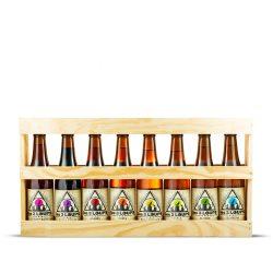 coffret bois 8 bouteilles 3 Loups